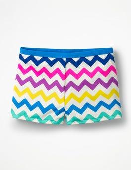 Rainbow Chevron Swim Shorts