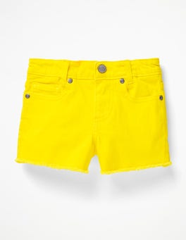 Sunshine Yellow Denim Shorts