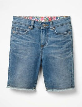Lange Denim-Shorts