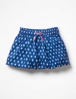 Blue Wave Ikat Printed Culottes