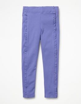 Dusty Iris Purple Ruffle Leggings