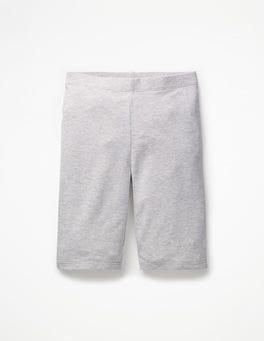 Grau Meliert Einfarbige knielange Jerseyshorts