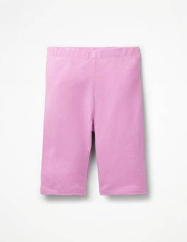 Lilac Pink Plain Jersey Knee Shorts