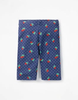 Starboard Blue Strawberry Spot Jersey Knee Shorts