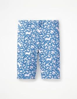 Lake Blue Wild Ponies Jersey Knee Shorts