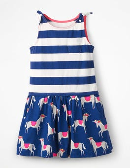 Blue Wave Festival Unicorns Hotchpotch Jersey Dress
