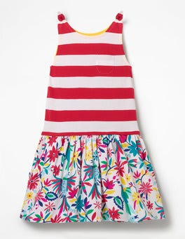 Multi Carnival Birds Hotchpotch Jersey Dress