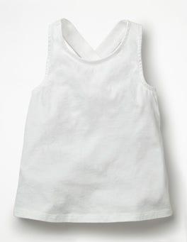 White Cross-back Vest