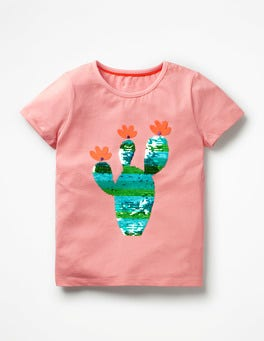 Shell Pink Cactus Fluttery Colour-change T-shirt
