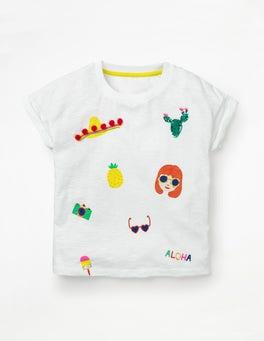 Weiß T-Shirt für Sonnentage