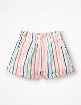 Blue Wave/Shell Pink Stripe Colourful Woven Shorts