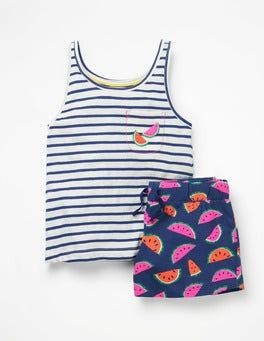 Starboard Blue Watermelons Fun Pocket Pyjama Set