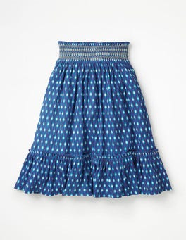Smocked Midi Skirt