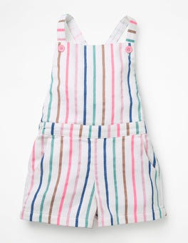 Multi Stripe Cross-back Woven Playsuit