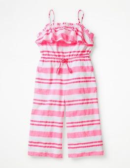 Fluoro Pink Stripe Strappy Jumpsuit