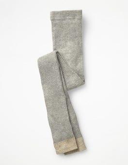 Grau MeliertFußlose Rippenstrumpfhose