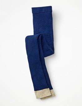Segelblau Fußlose Rippenstrumpfhose