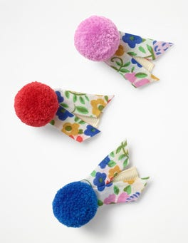 Ecru Jolly Floral 3 Pack Hair Clips