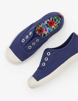 Starboard Blue Laceless Canvas Shoes