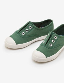 Rosemary Green Laceless Canvas Sneakers
