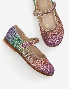 Rainbow Glitter Party Mary Janes