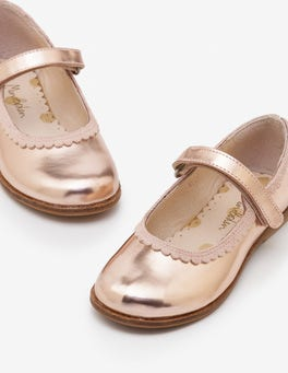 Rose Gold Metallic Party Mary Janes