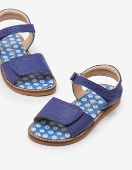 Starboard Blue Leather Padded Sandals