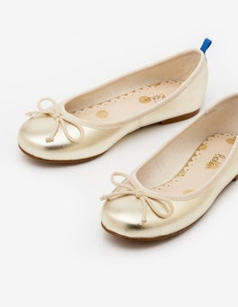 Gold Metallic Ballet Flats