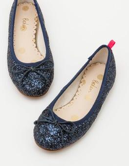 Navy Blue Ballet Flats