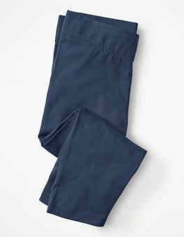 Navy Plain Cropped Leggings