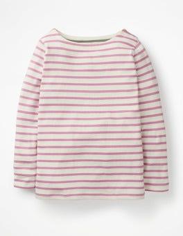 Ivory/Lilac Pink Breton T-shirt