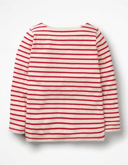 Ecru/Polish Red Breton T-shirt