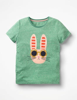 Jungle Green Bunny Fun Animal Printed T-shirt