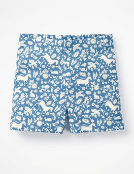 Elizabethan Blue Wild Ponies Jersey Shorts