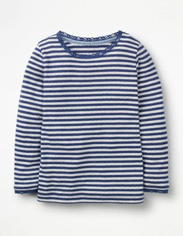 Starboard Blue/Ecru Supersoft Pointelle T-shirt