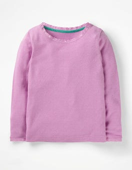 Lilac Pink Supersoft Pointelle T-shirt