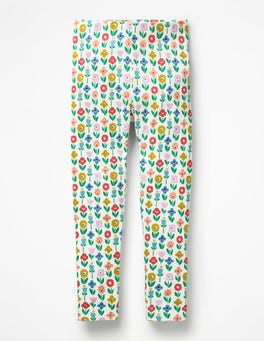 Ivory Flower Patch Fun Leggings