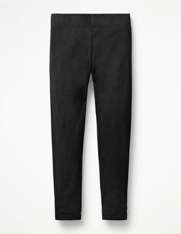 Black Plain Leggings