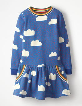 Blue Love Clouds Cosy Sweatshirt Dress
