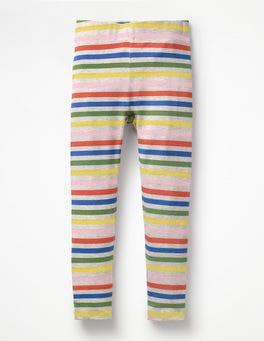 Grey Marl Rainbow Stripe & Spot Leggings