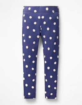 Starboard Blue Painted Spot Stripe & Spot Leggings