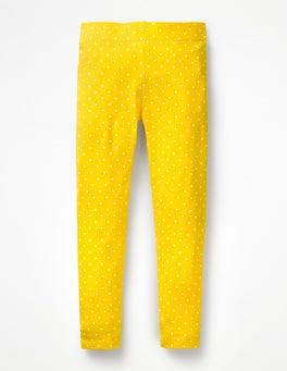 Sunshine Yellow Pin Spot Stripe & Spot Leggings