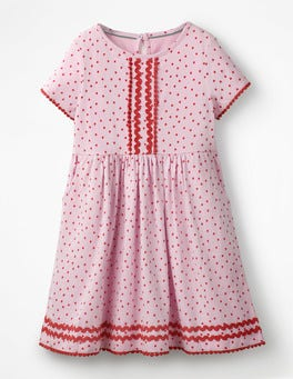 Parasol Pink Sweet Hearts Heart Print Jersey Dress