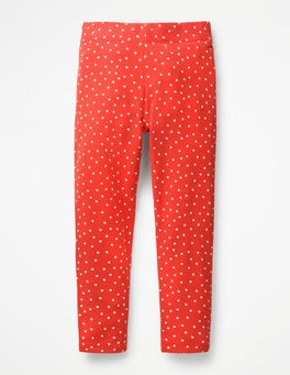 Beam Red Sweet Hearts Fun Cosy Leggings