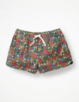 Multi Jolly Floral Heart Pocket Shorts