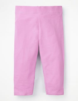 Lilac Pink Plain Cropped Leggings