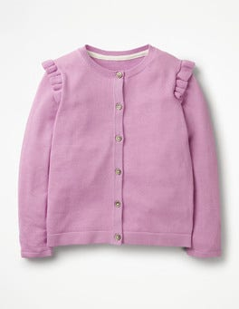 Lilac Pink Frilly Cardigan