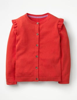 Beam Red Frilly Cardigan