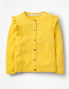 Sweetcorn Yellow Frilly Cardigan