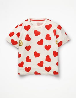 Ivory/Jam Hearts Love T-shirt